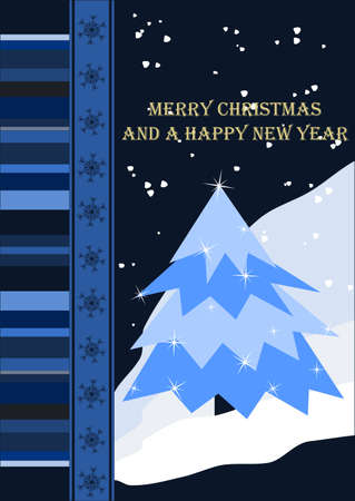 Merry Christmas and a Happy New Year Stock Vector - 12128021