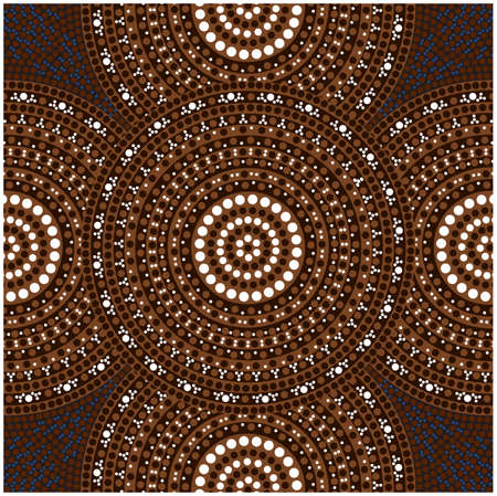 Dreamtime - place - australian dot painting style