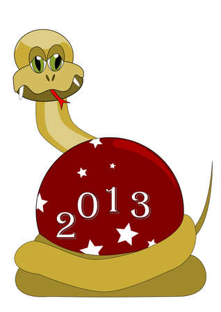 2013 Happy New Year - year of the snake Stock Vector - 12798796