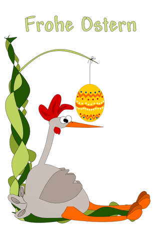 send to exhausted and irritated - happy easter Illustration