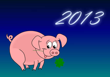 fourleaved: Happy New Year - 2013 Stock Photo