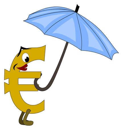 Euro unter Rettungsschirm Stock Vector - 13733694