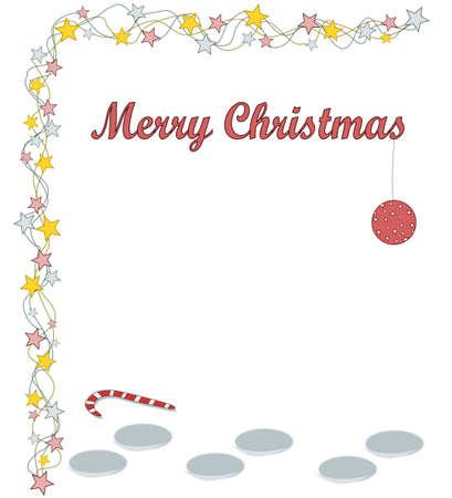 Merry Christmas - foodprints Illustration