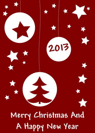 Merry Christmas and a Happy New Year Stock Vector - 14071649