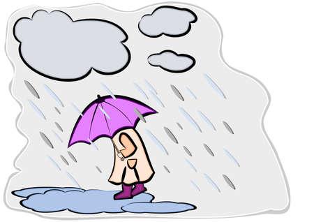 botas de lluvia: Umbrella - est� lloviendo gatos y perros