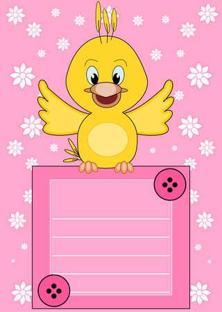 brings: Welcome baby - cute little bird brings information