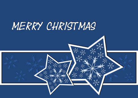 Christmas card with stars and snowflakes Stock Photo - 15892822