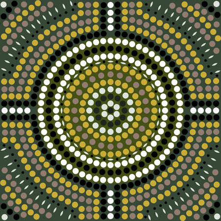 outback australia: A illustration based on aboriginal style of dot painting depicting pattern Illustration