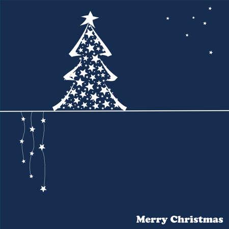 christmas cards: Christmas card with Christmas tree