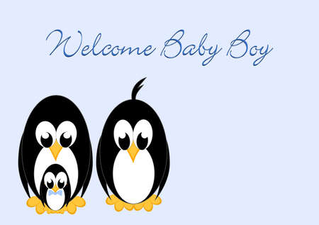 Welcome Baby - Penguin boy photo