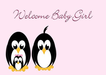 Welcome Baby - Penguin girl Stock Photo