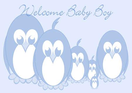 Welcome Baby - Penguin boy Stock Photo