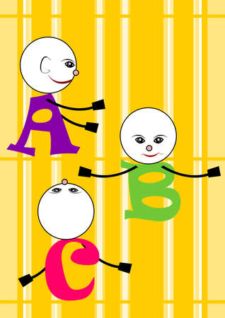 A B C - Alphabet Vector