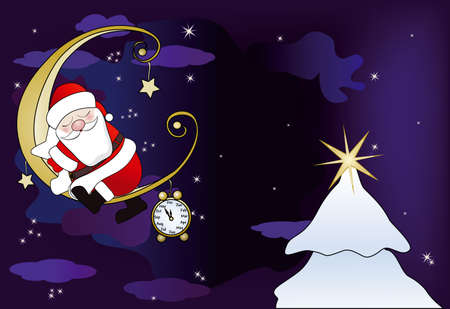 wake up happy: Santa Claus sleeps on the moon