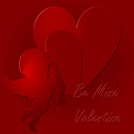 Happy Valentine - be mine valentine Stock Photo