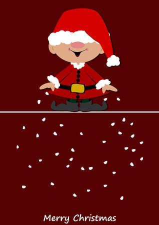 Little santa claus brings snow