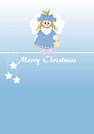 Cute little angel - Merry Christmas Illustration