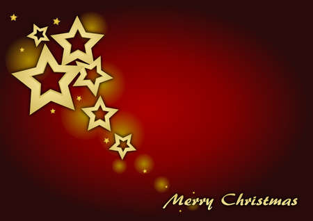 Christmas card with stars Stock Photo