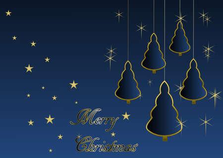 Merry Christmas - Christmas trees and stars