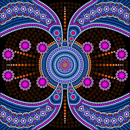 aboriginal: Dot painting meets mandalas 4. Aboriginal style of dot painting and power of mandala Illustration