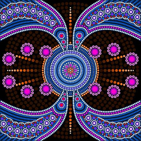 Dot painting meets mandalas 4. Aboriginal style of dot painting and power of mandala Illustration