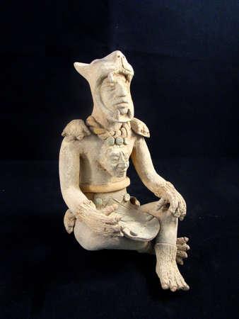 elite: Statue of an elite Maya Jaguar Warrior