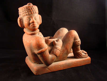 maya religion: Chac Mool Statue from Yucatan Mexico