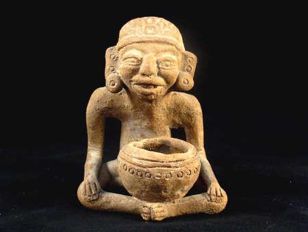 indian artifacts: Statue of a Maya Shaman