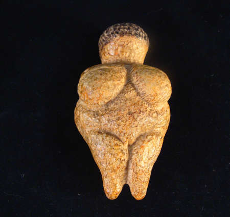 idol: Woman of Willendorf, a female fertility idol Stock Photo