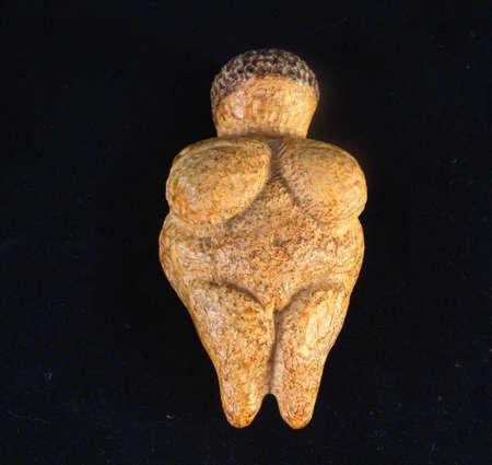 fertility goddess: Woman of Willendorf, a female fertility idol Stock Photo