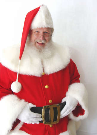 Traditional Santa Claus in a Red Suit                                photo