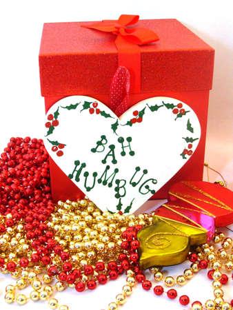 humbug: Holiday Gift and bah humbug sign