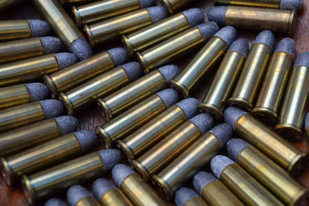 38 caliber: Ammunician, 38 caliber bullets  Stock Photo
