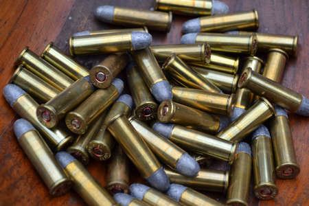 38 caliber: A Pile of 38 Caliber Bullets