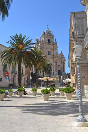 ragusa: Piazza Duomo in Ragusa Ibla Sicily, Italy