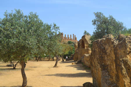 Valley of the Temples in Agrigento Sicily, Italy photo
