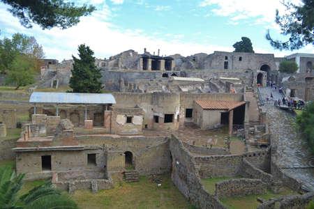 이탈리아 폼페이 (Pompeii) 발굴 스톡 콘텐츠 - 24263797