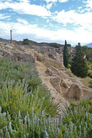 폼페이 (Pompeii) 이탈리아의 풍경 스톡 콘텐츠