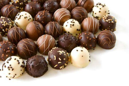 assorted chocolate truffle candies