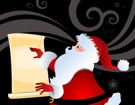 Santa with list  Stock Vector - 16185175