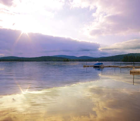 forge: late day in the adirondacks scene Stock Photo