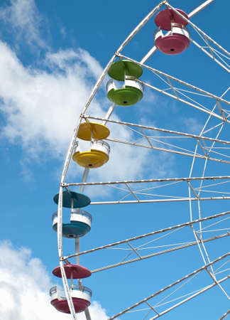 close-up of a ferris wheel at a carnival