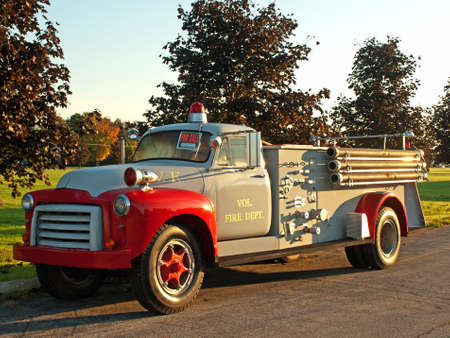 antique fire truck: old-time fire truck for sale