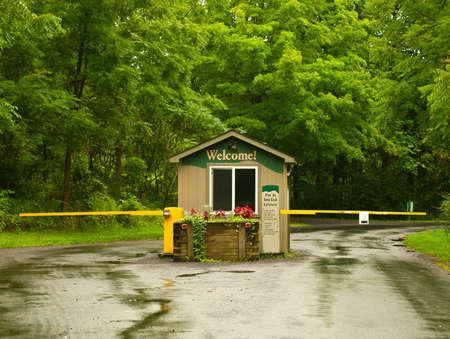 nature preserve entrance gate Stock Photo