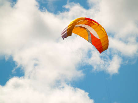 parachute kite on a summer day