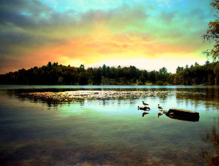 saranac lake in the adirondack state park, new york