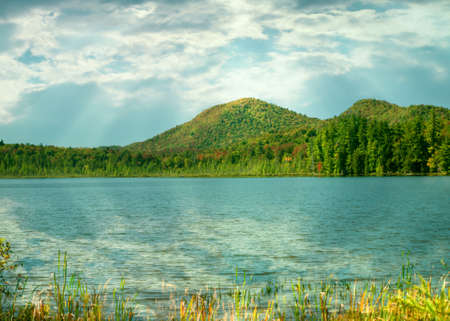 fulton chain lakes in old forge, new york in autumn Stock Photo