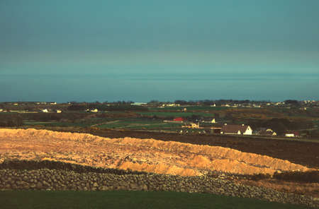 view of belfast lough and the farmlands of holywood,northern ireland Stock Photo