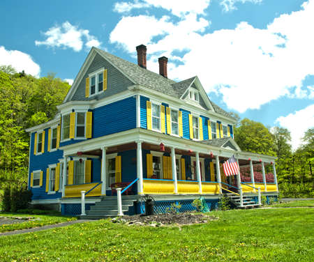 pretty colorful country home Stock Photo - 19618770