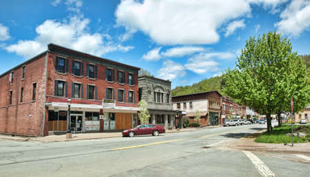 rural town: small rural town in the catskill mountains